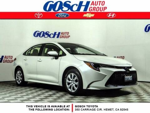 2020 Toyota Corolla for sale at BILLY D SELLS CARS! in Temecula CA