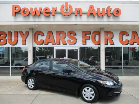 2014 Honda Civic for sale at Power On Auto LLC in Monroe NC