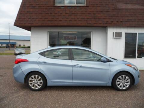 2012 Hyundai Elantra for sale at Paul Oman's Westside Auto Sales in Chippewa Falls WI