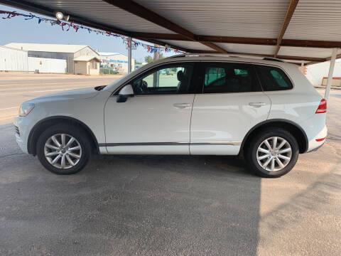 2012 Volkswagen Touareg for sale at Kann Enterprises Inc. in Lovington NM