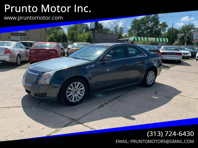 2010 Cadillac CTS for sale at Prunto Motor Inc. in Dearborn MI