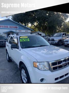 2011 Ford Escape for sale at Supreme Motors in Tavares FL
