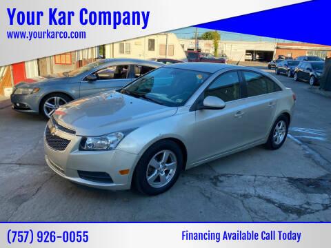 2013 Chevrolet Cruze for sale at Your Kar Company in Norfolk VA