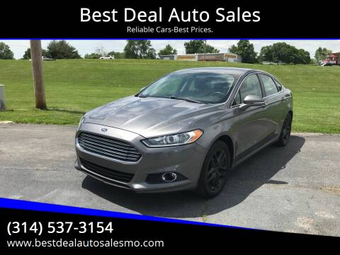 2014 Ford Fusion for sale at Best Deal Auto Sales in Saint Charles MO
