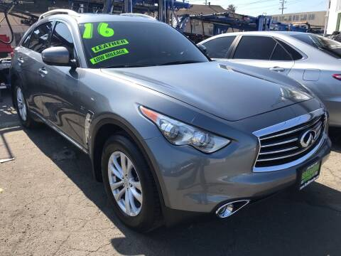 2016 Infiniti QX70 for sale at CAR GENERATION CENTER, INC. in Los Angeles CA