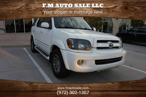 2006 Toyota Sequoia for sale at F.M Auto Sale LLC in Dallas TX