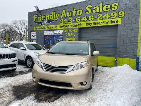 2011 Toyota Sienna for sale at Friendly Auto Sales in Detroit MI
