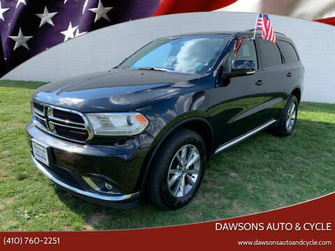 2015 Dodge Durango for sale at Dawsons Auto & Cycle in Glen Burnie MD