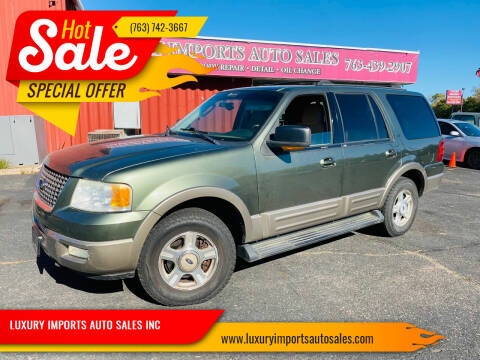2003 Ford Expedition for sale at LUXURY IMPORTS AUTO SALES INC in North Branch MN