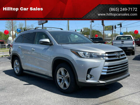 2017 Toyota Highlander for sale at Hilltop Car Sales in Knox TN
