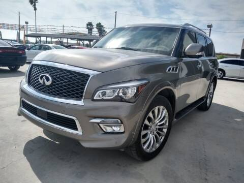 2015 Infiniti QX80 for sale at A & V MOTORS in Hidalgo TX