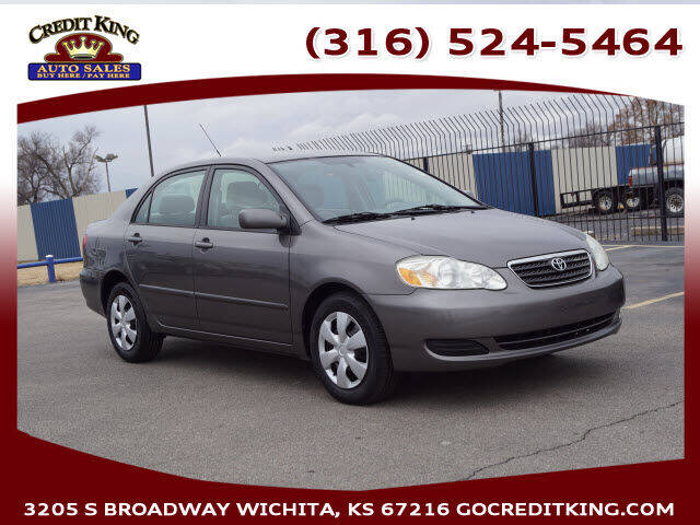 2007 Toyota Corolla for sale at Credit King Auto Sales in Wichita KS