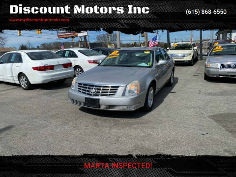 2007 Cadillac DTS for sale at Discount Motors Inc in Madison TN