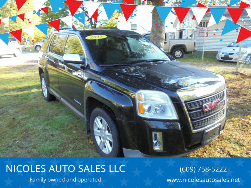 2013 GMC Terrain for sale at NICOLES AUTO SALES LLC in Cream Ridge NJ