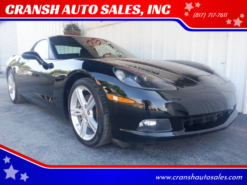 2009 Chevrolet Corvette for sale at CRANSH AUTO SALES, INC in Arlington TX