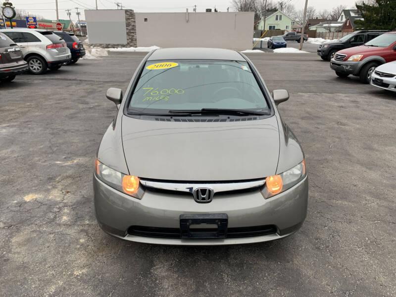 2006 Honda Civic for sale at L.A. Automotive Sales in Lackawanna NY