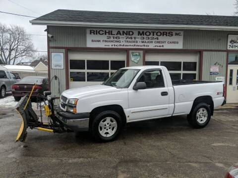 2005 Chevrolet Silverado 1500 for sale at Richland Motors in Cleveland OH