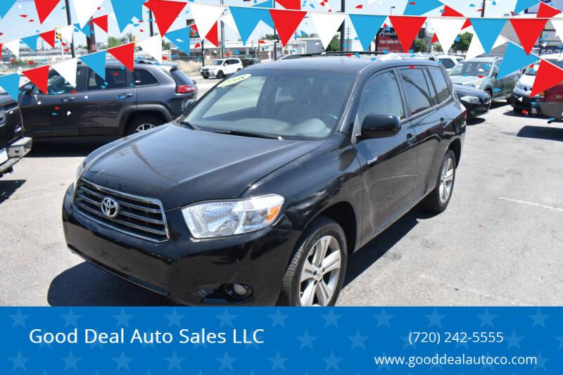 2008 Toyota Highlander for sale at Good Deal Auto Sales LLC in Denver CO