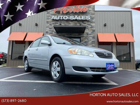 2007 Toyota Corolla for sale at HORTON AUTO SALES, LLC in Linn MO