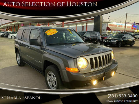 2014 Jeep Patriot for sale at Auto Selection of Houston in Houston TX