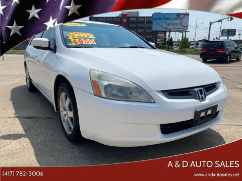 2005 Honda Accord for sale at A & D Auto Sales in Joplin MO