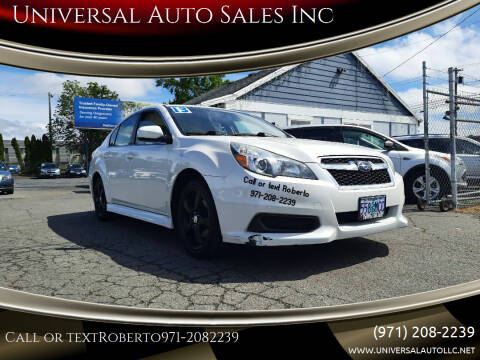 2013 Subaru Legacy for sale at Universal Auto Sales Inc in Salem OR