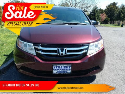 2012 Honda Odyssey for sale at STRAIGHT MOTOR SALES INC in Paterson NJ