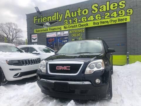 2012 GMC Acadia for sale at Friendly Auto Sales in Detroit MI