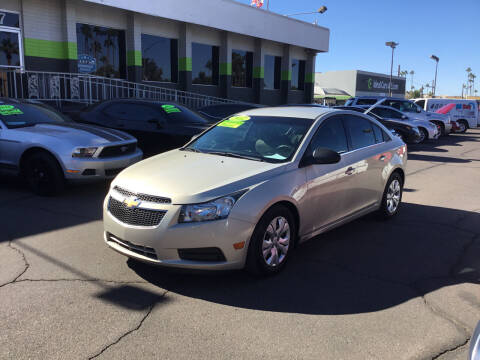 2012 Chevrolet Cruze for sale at Ideal Cars Broadway in Mesa AZ