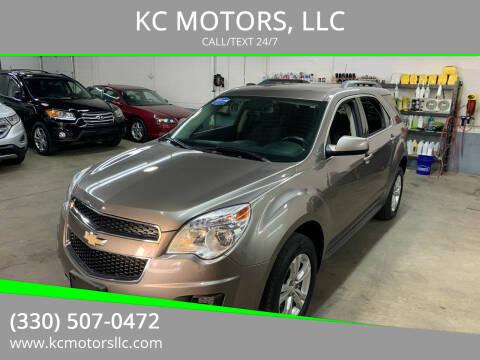 2012 Chevrolet Equinox for sale at KC MOTORS, LLC in Boardman OH