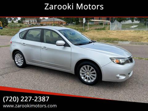 2008 Subaru Impreza for sale at Zarooki Motors in Englewood CO