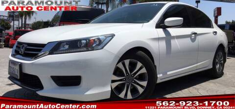 2015 Honda Accord for sale at PARAMOUNT AUTO CENTER in Downey CA