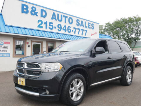 2012 Dodge Durango for sale at B & D Auto Sales Inc. in Fairless Hills PA