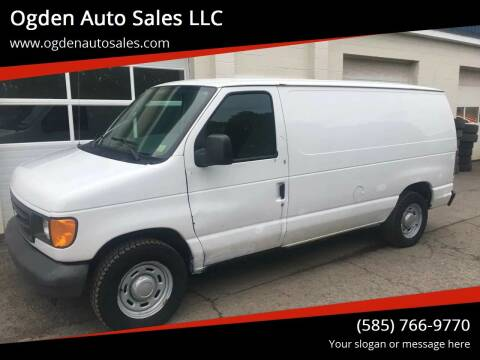 2005 Ford E-Series Cargo for sale at Ogden Auto Sales LLC in Spencerport NY