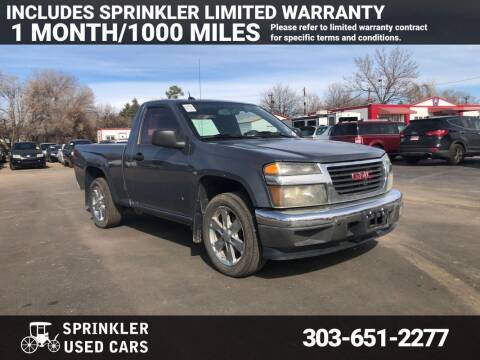 2009 GMC Canyon for sale at Sprinkler Used Cars in Longmont CO