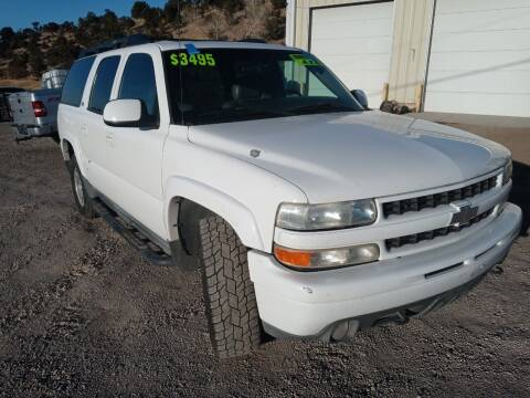 2002 Chevrolet Suburban for sale at Canyon View Auto Sales in Cedar City UT