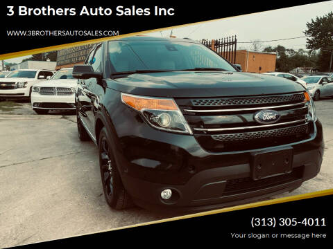 2013 Ford Explorer for sale at 3 Brothers Auto Sales Inc in Detroit MI