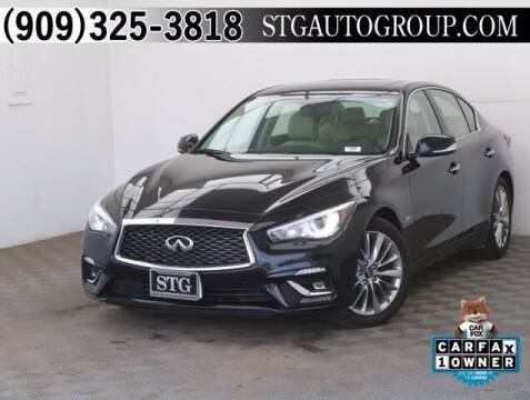 2020 Infiniti Q50 for sale at STG Auto Group in Montclair CA