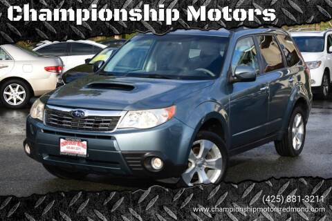 2010 Subaru Forester for sale at Mudarri Motorsports - Championship Motors in Redmond WA