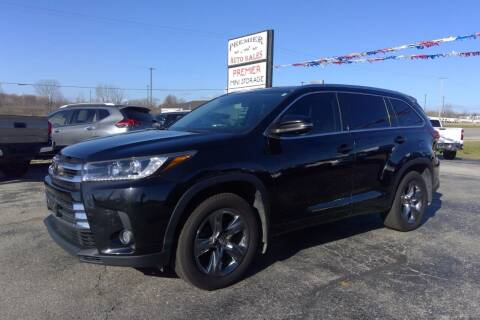 2018 Toyota Highlander for sale at Premier Auto Sales Inc. in Big Rapids MI