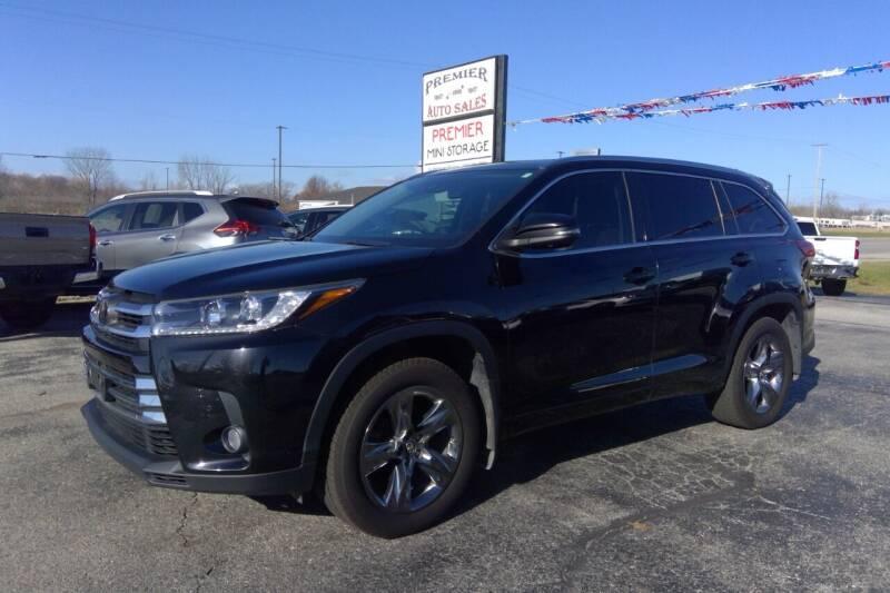 2018 Toyota Highlander for sale at Premier Auto Sales Inc. in Big Rapids MI