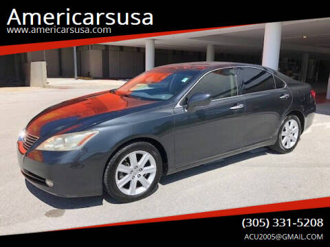 2007 Lexus ES 350 for sale at Americarsusa in Hollywood FL