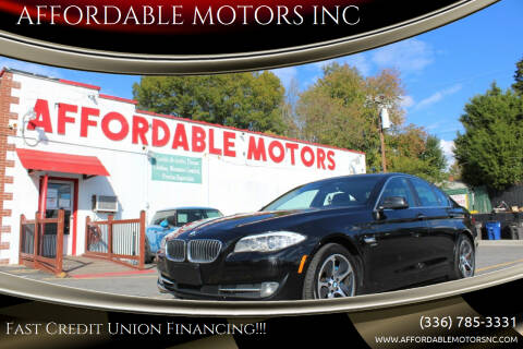 2011 BMW 5 Series for sale at AFFORDABLE MOTORS INC in Winston Salem NC
