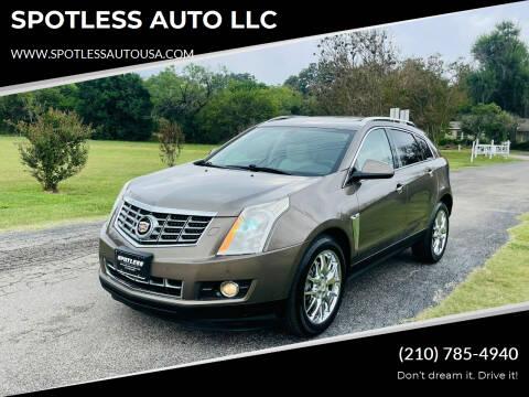 2014 Cadillac SRX for sale at SPOTLESS AUTO LLC in San Antonio TX