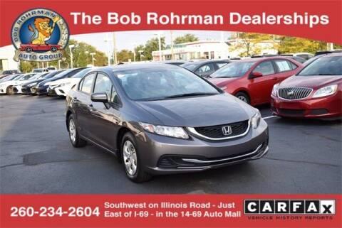 2015 Honda Civic for sale at BOB ROHRMAN FORT WAYNE TOYOTA in Fort Wayne IN