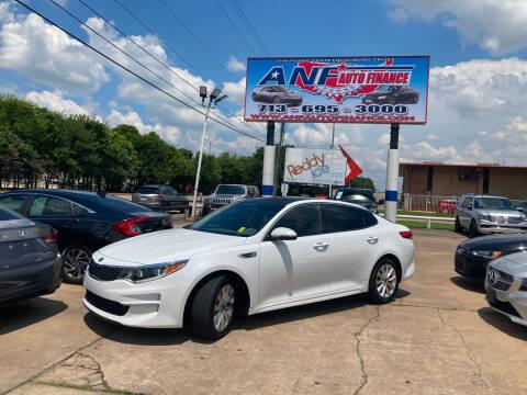 2016 Kia Optima for sale at ANF AUTO FINANCE in Houston TX