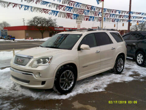 2011 GMC Acadia for sale at Fred Elias Auto Sales in Center Line MI