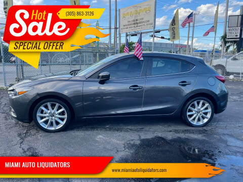 2017 Mazda MAZDA3 for sale at MIAMI AUTO LIQUIDATORS in Miami FL