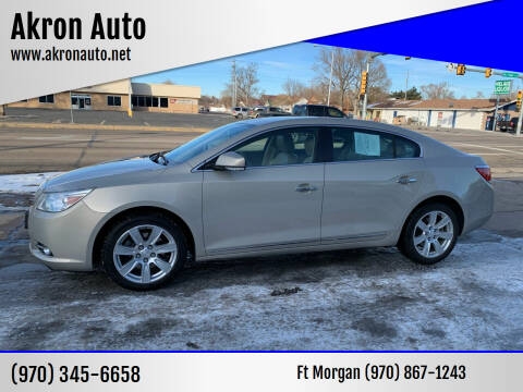 2011 Buick LaCrosse for sale at Akron Auto - Fort Morgan in Fort Morgan CO