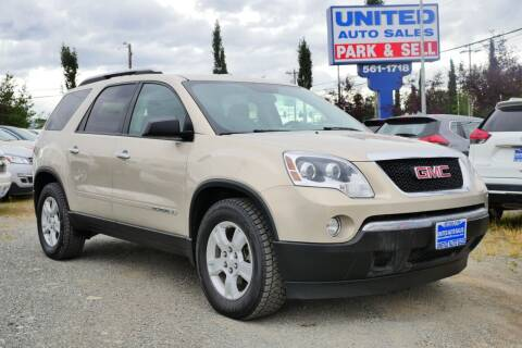 2008 GMC Acadia for sale at United Auto Sales in Anchorage AK